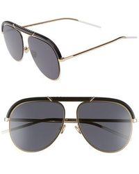 01c4803f4cb Dior - Christian Desertics 58mm Metal Aviator Sunglasses - Lyst