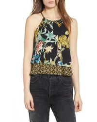 Band Of Gypsies - Tropical Print Layered Tank - Lyst