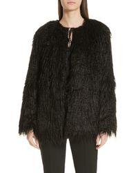 HUGO - Fabea Faux Fur Coat - Lyst