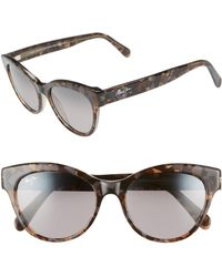 Maui Jim - Ku'uipo 51mm Polarized Cat Eye Sunglasses - Dove Grey - Lyst