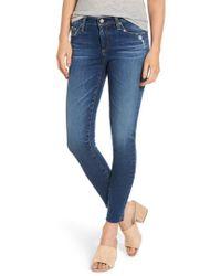 AG Jeans - The Legging Raw Hem Ankle Skinny Jeans - Lyst