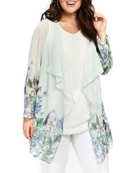 Evans - Floral Draped Kimono - Lyst