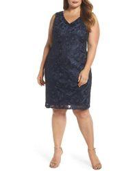 Marina - Soutache Sheath Dress - Lyst