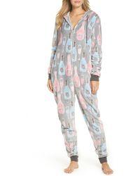 Munki Munki - Plush Union Suit One-piece Pajamas - Lyst