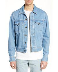 d56e39ce655 Lyst - Rag   Bone Denim Trucker Jacket in Blue for Men