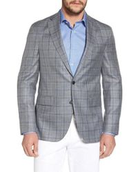 David Donahue - Arnold Classic Fit Plaid Wool Blend Sport Coat - Lyst