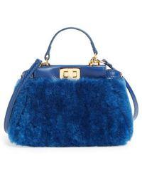 Fendi - 'micro Peekaboo' Genuine Shearling & Lambskin Leather Bag - - Lyst