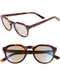 Web - 50mm Sunglasses - Dark Havana/ Gradient Brown - Lyst