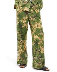 TOPSHOP - Tropical Pajama Trousers - Lyst