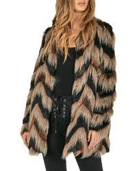 Amuse Society - Waylon Faux Fur Jacket - Lyst