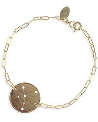 Ija - 'zodiac' 14k-gold Fill Chain Bracelet - Lyst