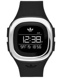 adidas Originals - Denver Digital Silicone Strap Watch - Lyst