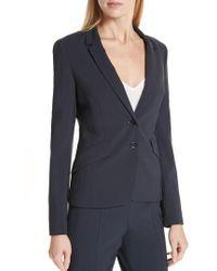 BOSS - Jiletara Stretch Wool Jacket - Lyst