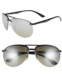 b3971478bab Lyst - Ray-Ban Chromance 62mm Polarized Sunglasses - for Men
