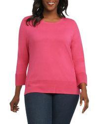 Foxcroft - Leda Ottoman Rib Sweater - Lyst