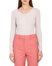 Reiss - Elouise Ribbed Sweater - Lyst