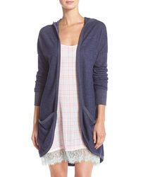 Make + Model - 'everyday' Hooded Open Front Cardigan - Lyst