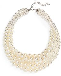 Cara - Imitation Pearl Multistrand Necklace - Lyst