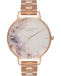 Olivia Burton - Watercolour Florals Bracelet Watch - Lyst