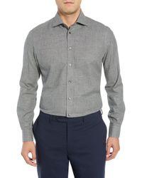 Luciano Barbera - Slim Fit Herringbone Dress Shirt - Lyst