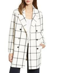 Cupcakes And Cashmere - Oversize Check Topper Coat - Lyst