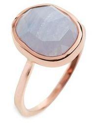 Monica Vinader - 'siren' Medium Semiprecious Stone Stacking Ring - Lyst