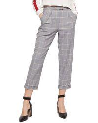TOPSHOP - Windowpane Plaid Trousers - Lyst