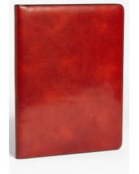 Bosca - Leather Letter Pad Cover - Lyst