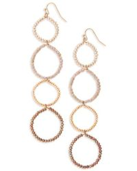 Panacea - Crystal Linear Circle Earrings - Lyst