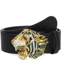 065f4b5e1b7 Lyst - Gucci Leather Belt With Wolf Head in Black