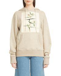 Loewe - Botanical Print Knit Hoodie - Lyst