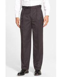 Berle - Self Sizer Waist Pleated Trousers - Lyst