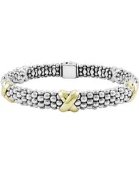 Lagos - 'x' Two-tone Rope Bracelet - Lyst