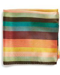 Paul Smith - Artist Stripe Silk Pocket Square - Lyst