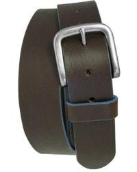 Boconi - 'bastian' Bison Leather Belt - Lyst