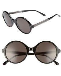 Bottega Veneta - 52mm Round Sunglasses - - Lyst