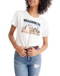 0c45fe5e5c36c5 Madewell - Welcome To The Badlands Whisper Cotton Crewneck Tee - Lyst
