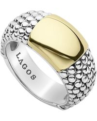 Lagos - Signature Caviar High Bar Ring - Lyst