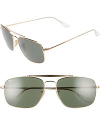 6182c9062a Lyst - Ray-Ban The Colonel Square 61mm Polarized Sunglasses - in ...