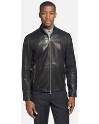 Theory - 'Morvek L.Kelleher' Sheepskin Leather Jacket - Lyst