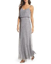 Adrianna Papell   Embellished Blouson Gown   Lyst