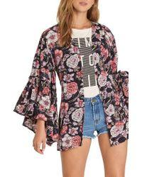 Billabong - All Flored Floral Kimono - Lyst