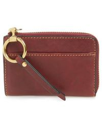 Frye | Small Ilana Harness Zip Leather Wallet - Burgundy | Lyst