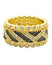Freida Rothman | Textured Ornaments Set Of 3 Stacking Rings | Lyst