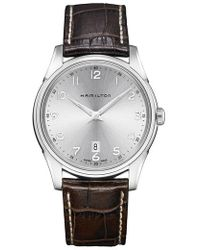 Hamilton - Jazzmaster Thinline Leather Strap Watch - Lyst
