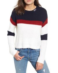 Obey - Allie Colorblock Crewneck Sweater - Lyst