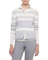 Akris | Stripe Knit Cashmere Jacket | Lyst