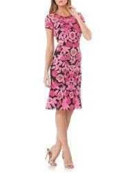 JS Collections - Floral Soutache Cocktail Dress - Lyst