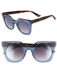 Web - 48mm Sunglasses - Shiny Blue/ Blue Mirror - Lyst