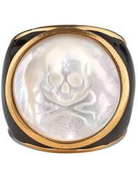 Asha - Mother-of-pearl Skull Ring - Lyst